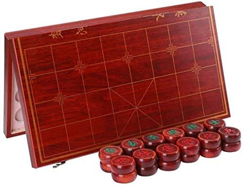 WCY Schach setzt hölzerne chinesische Schachspiel für Erwachsene und Kinder |Tragbares faltendes Schachbrett chinesischer Xiangqi, für Reisespiel yqaae