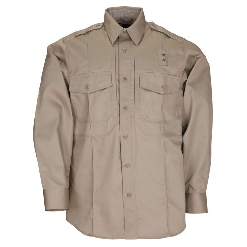 Photo of 5.11 Tactical #72345 Men's PDU Long Sleeve Twill Class B Shirt (Silver Tan, Medium)