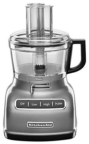 KitchenAid RKFP0722CU 7-Cup Food Processor with Exact Slice System - Contour Silver (Renewed)