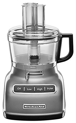 KitchenAid RKFP0722CU 7-Cup Food Processor with Exact Slice System - Contour Silver (Renewed) New Jersey