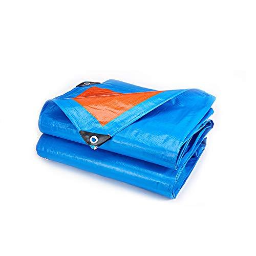Dekzeil waterdicht tentzeil dekzeil dekzeil waterdichte zonwering blauw oranje verdikt regendicht doek met oogjes, voor baldakijn balkon vrachtwagen 175 g/M2 dekzeil geweven