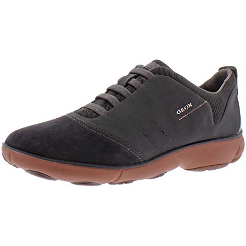 Geox Damen D NEBULA G Sneakers, Grau (ANTHRACITE/OLD ROSEC9AA8), 35 EU