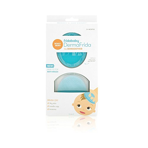 Baby Bath Silicone Brush by Fridababy   DermaFrida The SkinSoother Baby Essential for Dry Skin,...