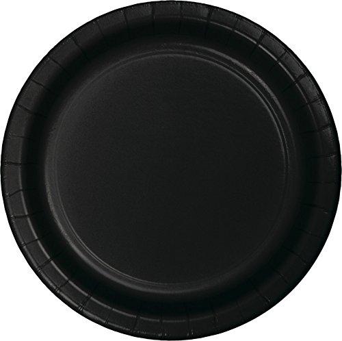 Creative Converting 75-Count Value Pack Paper Dinner Plates, Black Velvet -