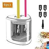 TOPERSUN Elektrischer Anspitzer 6pcs automatischer Bleistiftspitzer elektrisch für Kinder 6-12mm