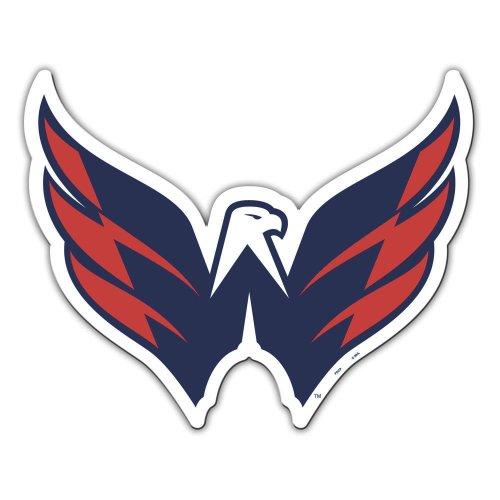Fremont Die NHL Washington Capitals Vinyl Team Logo Magnet, 12', Team Colors