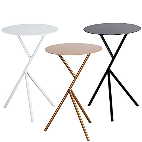 XiYou Tavolino da caffè, tavolino, Letto Nordico, Moderno, in Ferro, Arte, Divano, Lato, Tavolo Rotondo Dorato, Bianco, Piccolo (Oro, Piccolo)