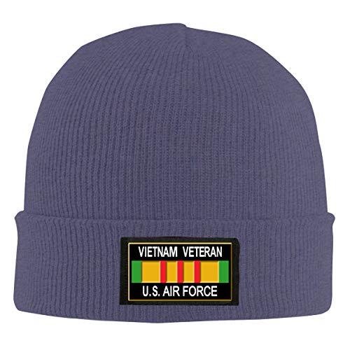 IHJK Jkkk Unisex Vietnam Veteran U.S. Air Force Skull Hats Knit Cap Winter Warm Cap Beanie Hats Navy