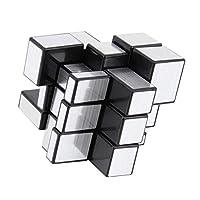 ネオマジックミラーキューブ3×3×3ゴールドシルバープロフェッショナルスピードキューブパズルSpeedcube教育玩具子供の大人のギフトのため (色 : 銀)