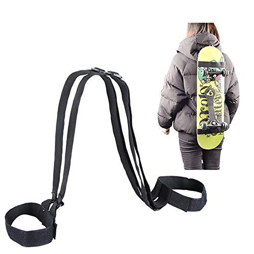 Tracolla per Spalla da Skateboard Tracolla Cintura di Fissaggio per Snowboard per Skateboard Tracolla per Zaino da Skateboard Regolabile Resistente per Skateboard da Snowboard per Zaino da Snowboard