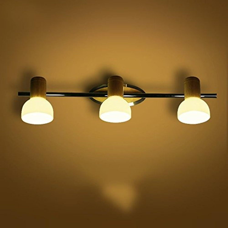 YJ&Lighting Outdoor Indoor Wandleuchte Massivholz Spiegel Scheinwerfer Wohnzimmer Wandleuchte Schlafzimmer Nachttischlampe Bad Führte Holz 54  12 Cm Von Der Wand
