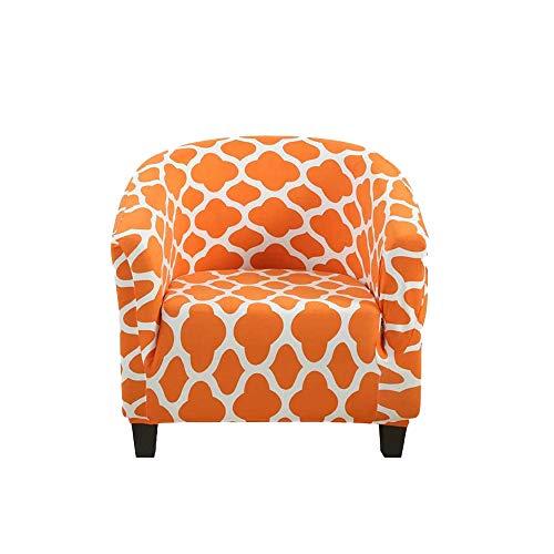 YuuHeeER 1 funda estampada para silla de bañera, color naranja, elástica, lavable, anti naranja.