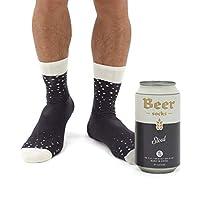 Fun bière style chaussettes, disponibles en 3saveurs rafraîchissantes Disponible en: ale (orange), (jaune), de la bière stout (noir) Chaque paire viennent dans une bière pratique peut écrire étain avec un couvercle facile à enlever Porter de manièr...