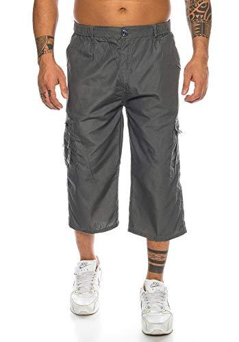 Raff&Taff Herren Cargo Shorts Kurze Hose Dehnbund Bermuda Sommerhose (XL, Anthrazit(611))