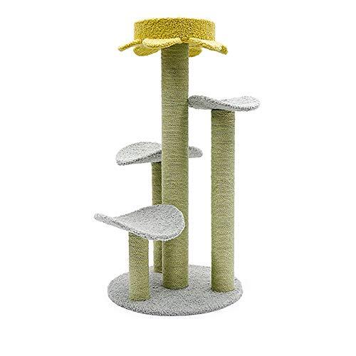 CNRGHS kattenboom voor arrampicarsi, kattentoilet van kattenkat, een salto platform rek met plank en sisal grab Cat Villa, kattenkat met Nido, Pet Supplies, 50 * 35 * 90cm, B