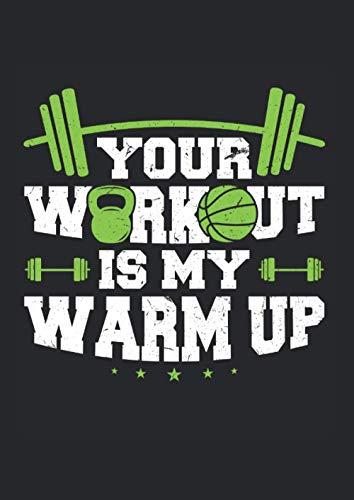 Kalender 2021: Your Workout is my Warmup Jahreskalender 2021 Kraftsportler als Geschenk-idee für Kraftsport Fan mit Hantel Motiv / DIN A4 - 120 Seiten / Terminkalender für Trainingspartner