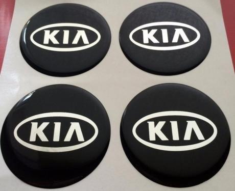 Kia ★4 Stück★ 60mm Aufkleber Emblem für Felgen Nabendeckel Radkappen
