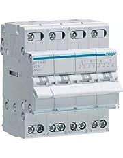 HAGER SFT440 - Commutatore 1-0-2 tetrapoare 40A 4 module met comune in alto