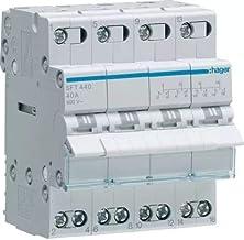 Hager Sistemas SFT440 Conmutador Modular con Común Arriba, I-0-II, 4 Polo, 40A