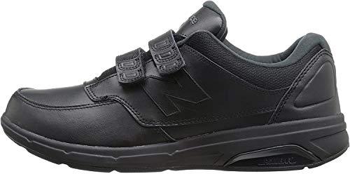 New Balance Men's 813 V1 Hook and Loop Walking Shoe, Black, 11 M US