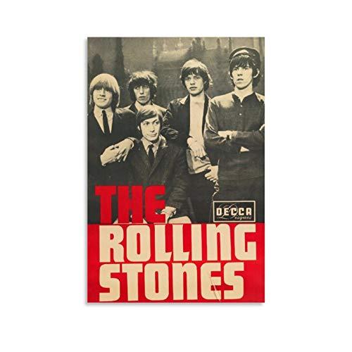 DRAGON VINES 60er Jahre It's All Over Now Rolling-Stones Wandbild, nordische Wandkunst, 60 x 90 cm