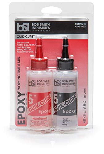 Bob Smith Industries BSI-201 Quik-Cure Epoxy (4.5 oz. Combined),Clear - New Version 2021