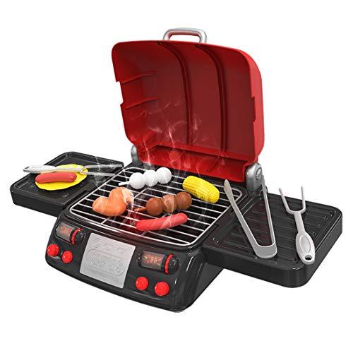H0_V Grill Spielset,Elektro BBQ Elektrischer Grill Rollenspiele Geschenk für Kinder - Rot