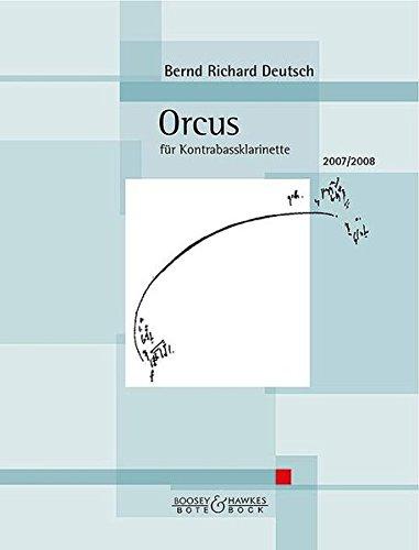 Orcus: für Kontrabassklarinette. Nr. 22. Kontrabass-Klarinette.