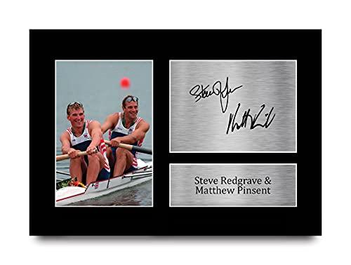HWC Trading A4 Steve Redgrave & Matthew Pinsent Team GB Los Regalos Imprimieron La Imagen Firmada del Autógrafo para Los Fans De Los Recuerdos del Deporte del Atletismo