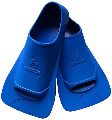 水泳 トレーニング フィン PROBLUE プロブルー F-782 練習 ヘルパー スイミング 競泳 トレーニング用品 スポーツクラブ 男女兼用 子供 ブルー (M(素足目安 24.5-26cm))