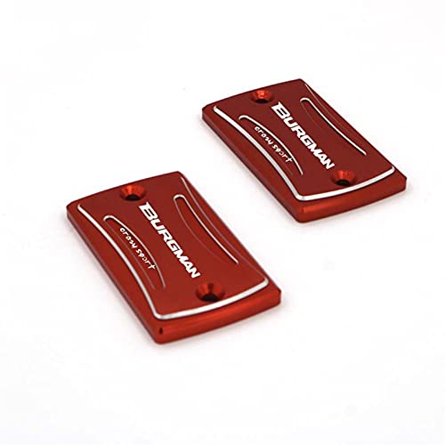 HDDTW Tapas De Gasolina Decorativas Más Calientes para Suzuki AN 650 Burgman 2004-2018 Serie CNC Motocicleta Tapa del Cilindro Maestro del Líquido Freno Delantero Tapa Depósito Líquido (Color : Rojo)
