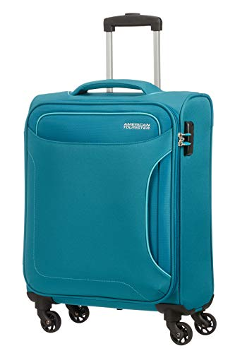 American Tourister Holiday Heat - Spinner Hand Luggage, 55 cm, 38 Litre, Green (Petrol Green)
