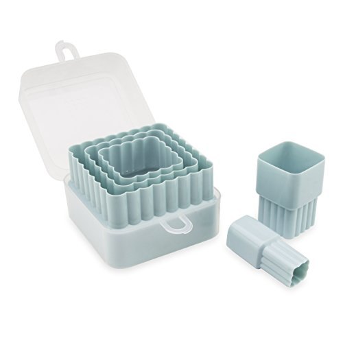Sweet Creations 05083 5 Piece Nested Square Cutters, Blue