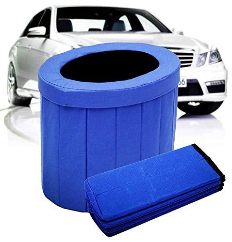 AFDLT Wagen Baby Töpfchen für Unterwegs Kindertoilette Falten Urinbeutel Stau Notfall Sommerautoreise Geruchlos Außentoilette,Blue