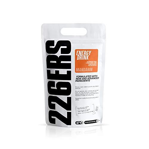 226ERS Energy Drink   Bebida Energética con Amilopectina, Taurina y L-Carnitina, Sin Gluten y Sin Lactosa, Mandarina - 1000 gr