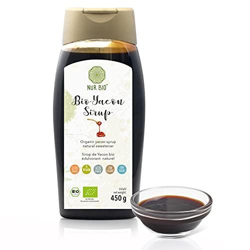 Bio Yacon Sirup 450 g | NUR BIO | natürliche Süße | ohne Zusätze | höchste Reinheit | vegan | Bio zertifiziert DE-ÖKO-003 | Golden Peanut