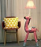 XiuXiu Lámpara de pie Unicornio Cute Creative Habitación para niños Dormitorio Sala de Estar Princess Lámpara de pie Ins Nordic Style (Color : Pink, tamaño : Button Switch)