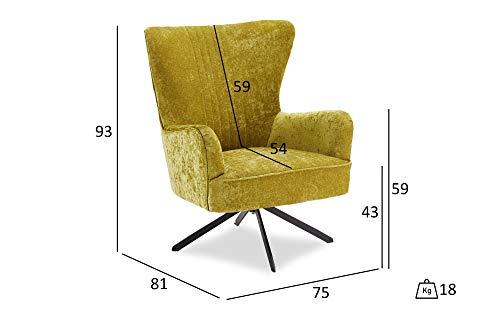 PKline Bobby Sessel mit Drehfuss grün Fernsehsessel Relaxsessel Liegesessel Lounge