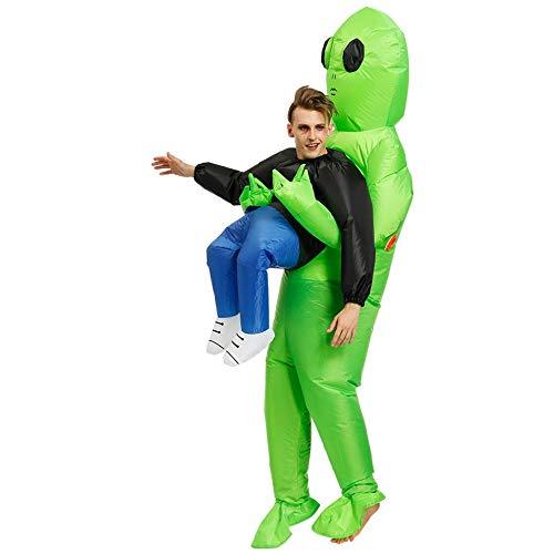 1 juego de disfraz de Alien Et Inflatable Suit Tv Show Performance Clothes Halloween Alien et Inflatable Suit Walking Costume