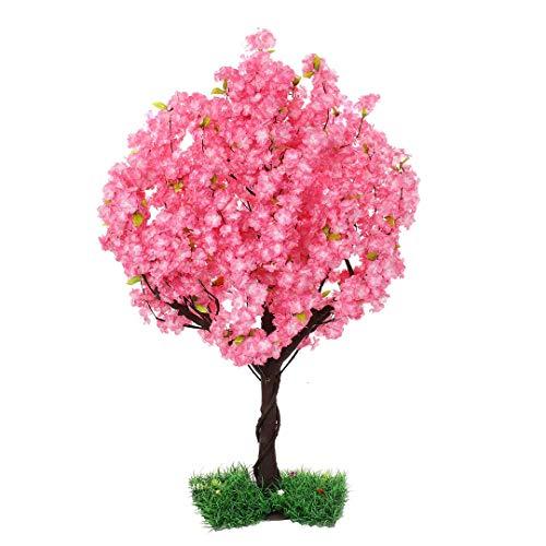 SPKTCULR Rosa künstliche Blüte Kirschbaum, Seide Sakura Blumen Baum, Faux Pfirsich Blumen Baum für Hochzeit Wohnkultur Innen oder Außen 59
