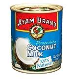 NT# Ayam Brand Leche de coco – Premium 270 ml – 100% natural, ideal para añadir a curries ligeros o salsas, sopas y postres.