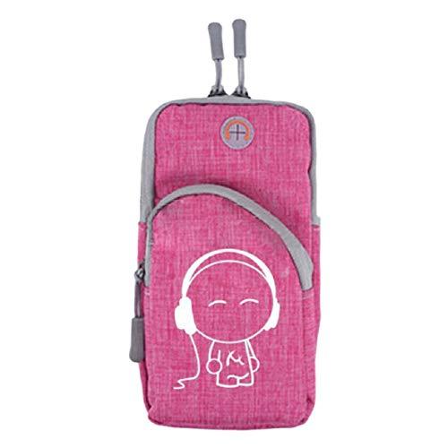 Vaycally Fitness Running Brazalete Soporte para teléfono, bolsillos múltiples para teléfono de hasta 4-6 pulgadas Compatible con Iphone 6S, 7, 8, X, Samsung Galaxy, para correr, ciclismo, escalada, f