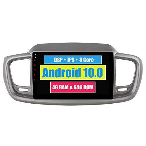RoverOne 10,2 Pouces Système Android Octa Core pour Kia Sorento 2015 2016 Autoradio Système stéréo avec Radio Navigation GPS Bluetooth Mirror Link écran Tactile