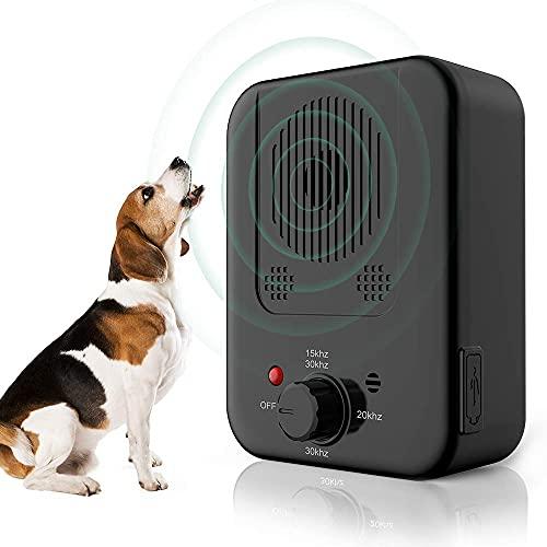 Anti-Bell-Gerät Ultraschall, Stoppen Sie Hundebellen Hunde-Bell-Kontrolle Anti-Bell-Abschreckungsgerät für Große Kleine Hunde Drinnen Draußen Stoppt Hundebellen Reichweite Sicher für Hunde Menschen