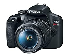 24 1 Megapixel CMOS (APS-C) sensor with is 100–6400 (H: 12800) Built-in Wi-Fi and NFC technology 9-Point AF system and AI Servo AF Optical Viewfinder with approx 95% viewing coverage Use the EOS Utility Webcam Beta Software (Mac and Windows) to turn ...