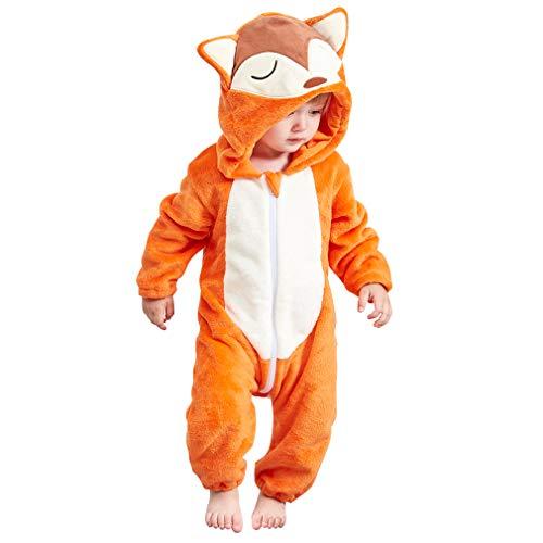 COOKY.D Baby Mädchen (0-24 Monate) Spieler Gr. Größe L, Fuchs