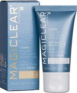 Luxury Sunblok SPF 50 PA+++ Organic Moisturizer Sun cream Anti age Face daily Sunscreen. Magiclear the best Swiss sunscreen brand 1.7 Oz