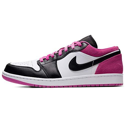 Air Jordan 1 Bajo Se Zapatos De Moda Casual Hombres Ck3022-005, Rosa (Negro/Negro-activo Fucsia-blanco), 43 EU