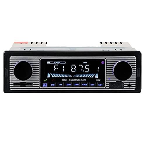 Popcornon Radio de Coche CláSico Reproductor para Coche AUX Audio EstéReo Reproductor de MP3 Compatible con USB / / MMC Lector de Tarjetas