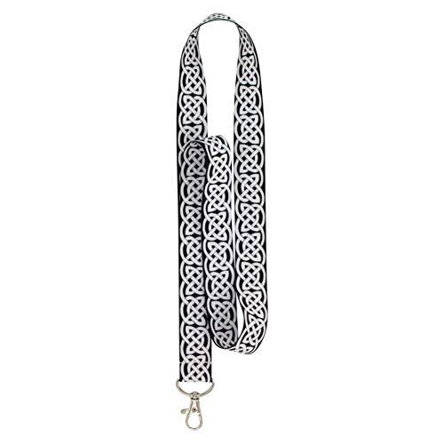 Hillman Polyester Black/White Decorative Key Chain Lanyard